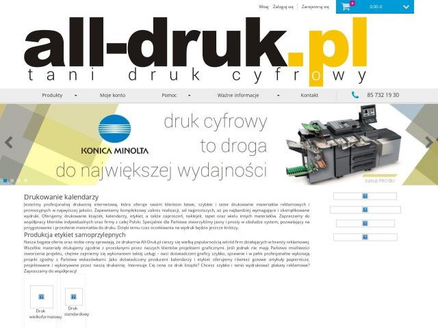http://all-druk.pl/ - Etykiety producent